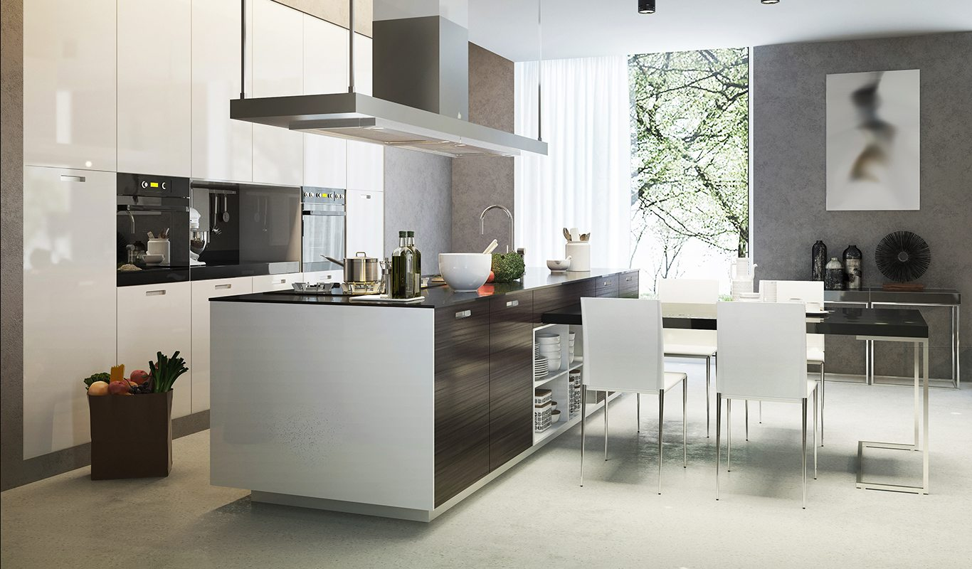 Two Tone Contemporary Kitchen