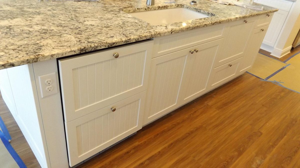 Installation of Custom Cabinets for a Kitchen Island