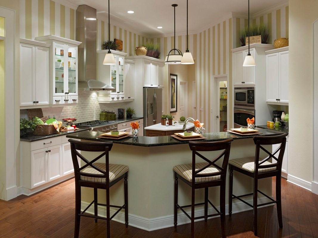 Transitional Kitchen with Shaker Style Custom Cabinets